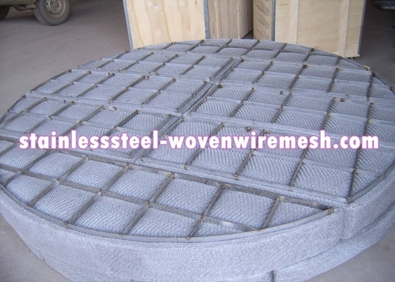 Round Wire Mesh Demister Pad For Bottom Loading 100 - 150mm Thickness